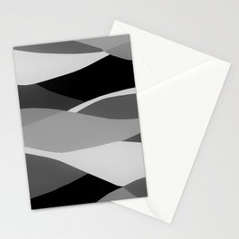 Gray and Pewter Waves Stationery Cards