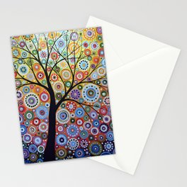 Abstract Art Landscape Original Painting ... Sun Arising Stationery Cards
