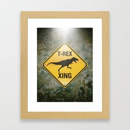 T-Rex Crossing Framed Art Print