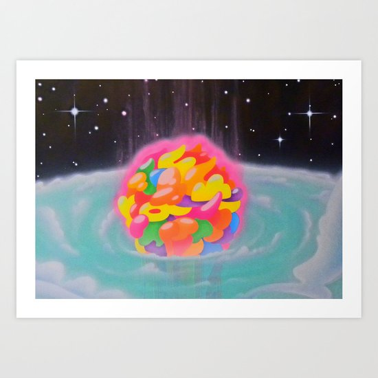 """SPACE INFLATION"" Art Print"