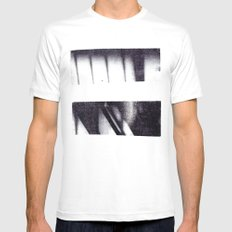 Monotype: Stairs MEDIUM Mens Fitted Tee White