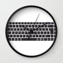 Computer Keyboard Buttons Silhouette Wall Clock
