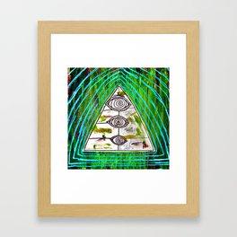 psychedelic surfer vomit Framed Art Print