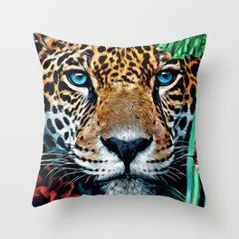 Leopard Hiding Throw Pillow