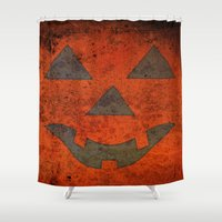 pumpkin Shower Curtains featuring Pumpkin by Renato Armignacco