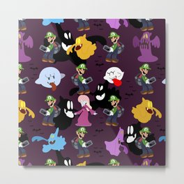 Luigi's Mansion Pattern Metal Print
