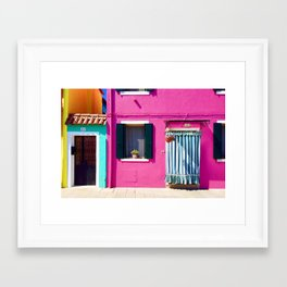 Colorful Homes Framed Art Print