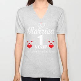 First Wedding Anniversary Gifts for Woman graphic Unisex V-Neck