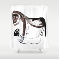 lions Shower Curtains featuring LIONS by Valeria Kondor