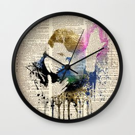 DAVID BOWIE /  HEROES on dictionary page Wall Clock