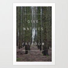 Native Freedom Art Print