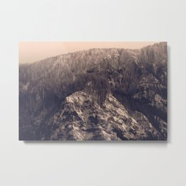 Early Hours - Winter Mountain Forest Snow Nature Photography Metal Print