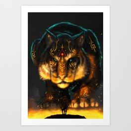 Guardian of the Fire Art Print