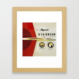 My Grand Father Classic Old vintage Radio Framed Art Print