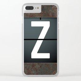 monogram schedule z Clear iPhone Case