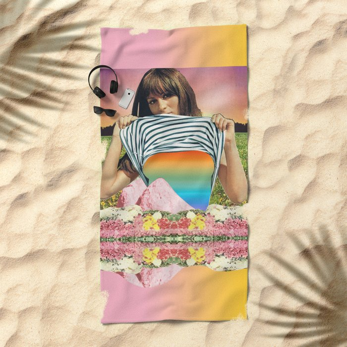 Internal Rainbow II Beach Towel