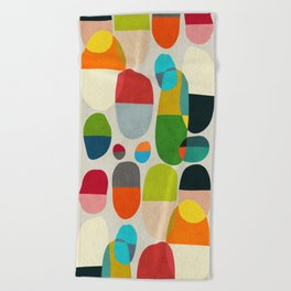 Jagged little pills Beach Towel