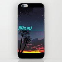 miami iPhone & iPod Skins featuring Miami by Nioko