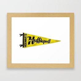 Hufflepuff 1948 Vintage Pennant Framed Art Print