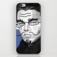 leonardo dicaprio iPhone & iPod Skins featuring Leonardo DiCaprio by Pazu Cheng