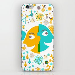 Day and Night, Winter and Summer iPhone Skin