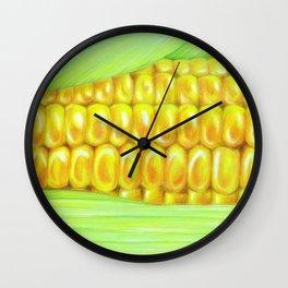 Color pencil Corn Wall Clock
