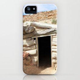 Cabin in the Desert iPhone Case