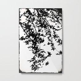 black on white Metal Print
