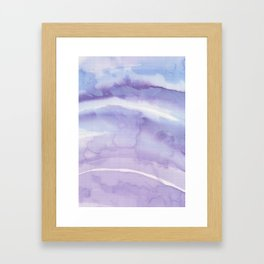 Abstract wave 08 textile Framed Art Print