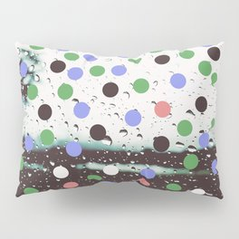 polka dotted rain Pillow Sham