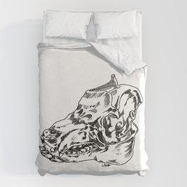 Pig Skull Duvet Cover
