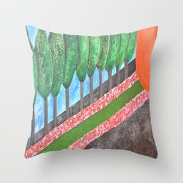 Ten Religious Abstract Art By Saribelle Rodriguez Throw Pillow