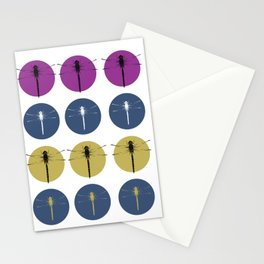 Pop-art Style Dragonflies Stationery Cards