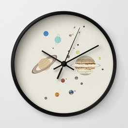 The Solar System - Planets, Moons, and Dwarf Planets Wall Clock