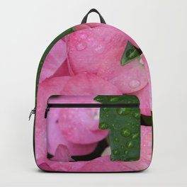 Hydrangea after a spring shower Backpack