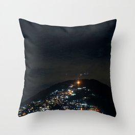 Favela at Night Throw Pillow
