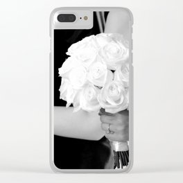 Happy family of groom and bride at wedding day ceremony Clear iPhone Case