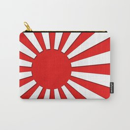 Rising Sun Flag in 3D Carry-All Pouch