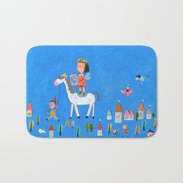 White Horse, Blue Sky Bath Mat