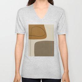 Organic Abstract Shapes #1 Unisex V-Neck