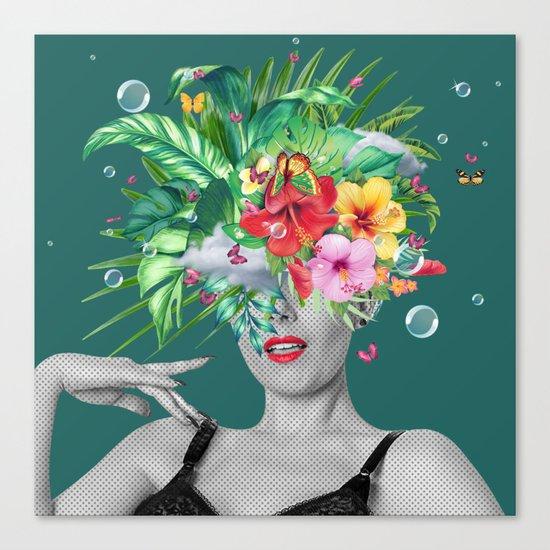 portriat floral Canvas Print