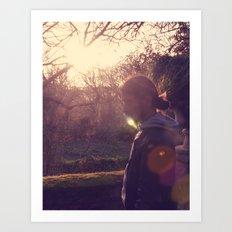 kissing sunlight Art Print