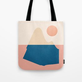 Abstraction_Mountains_Ocean Tote Bag