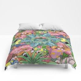 Grass Type Pokémon Collage Comforters