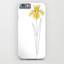 Mustard Iris iPhone Case
