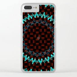 BUTTONS, WEAVES, BLOCKS & WAVES CIRCLE PATTERN Clear iPhone Case