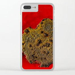 Rust on Red Clear iPhone Case