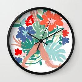 naked asana Wall Clock