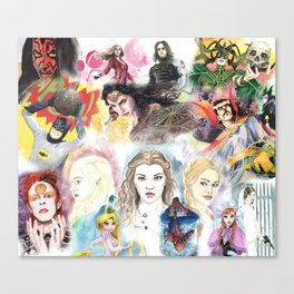 my watercolor collage Canvas Print