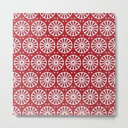 Red Rosette Metal Print